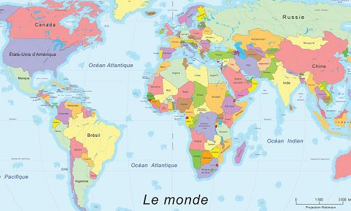 geographie monde politique